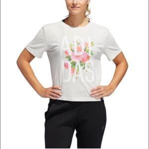 Adidas Floral Cropped Tee